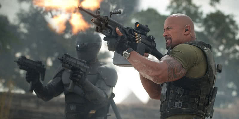The Rock in G.I. Joe – Die Abrechnung als Marvin F. Hinto aka Roadblock.