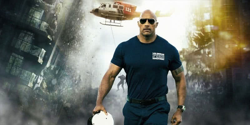 Rettungsflieger Ray Gaines (Dwayne Johnson) in San Andreas.