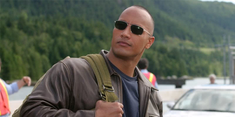 Dwayne Johnson in seiner Rolle als Chris Vaughn in Walking Tall.