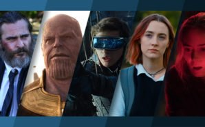 Collage mit Filmpostern der Filme A Beautiful Day, Avengers: Infinite War, Ready Player One, Lady Bird, A Quiet Place
