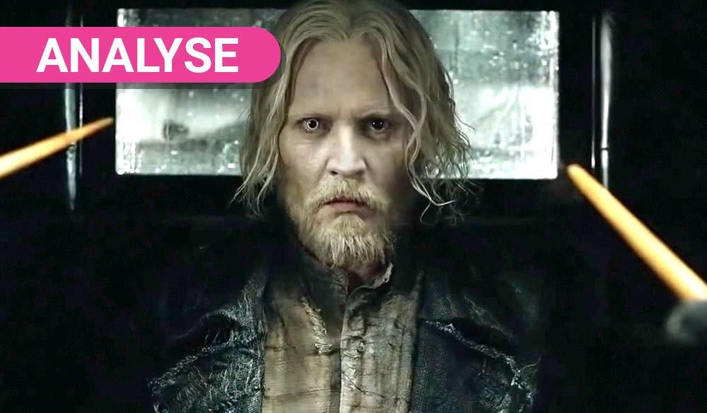 Johnny Depp als Gellert Grindelwalt in Titelbild für Phantastische Tierwesen Grindelwalds Verbrechen Traileranalyse