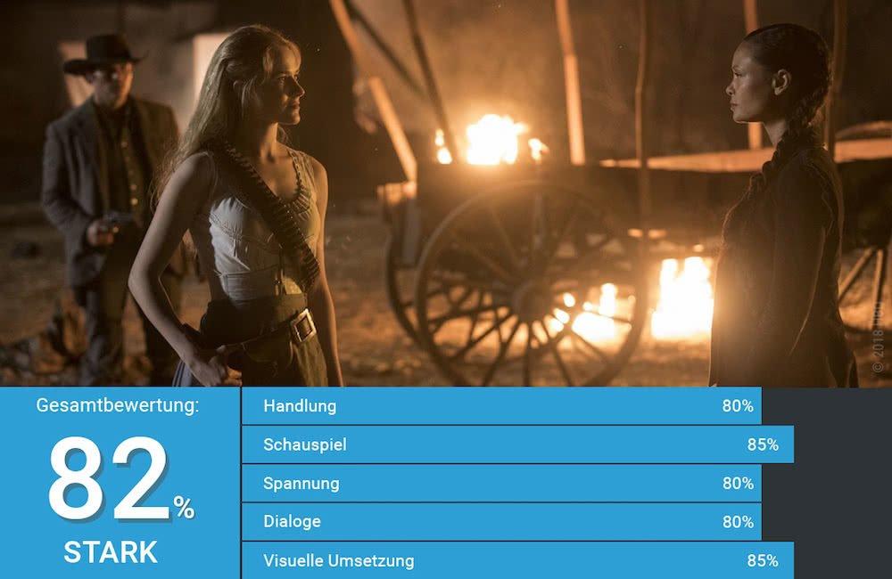 Maeve und Dolores treffen aufeinander in Westworld Staffel 2 Episode 2 Der Weg nach Glory