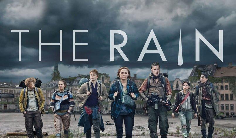 Der Hauptcast von The Rain Staffel 1 auf einem Plakat