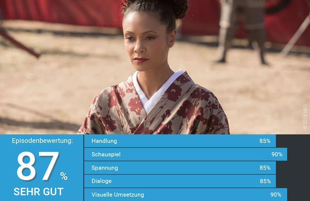 Maeve trägt einen Kimono in Shogunworld in Westworld Staffel 2 Episode 5
