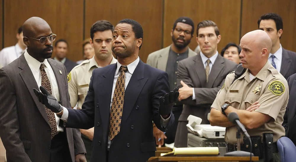 Cuba Gooding Jr. als O. J. Simpson in einem Szenenbild aus American Crime Story Staffel 1