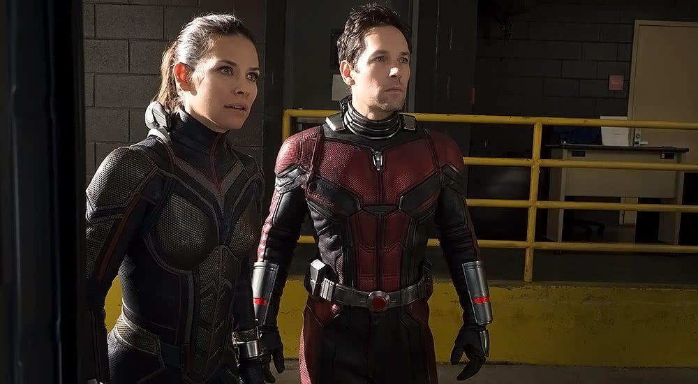 Evangeline Lilly und Paul Rudd in Ant-Man and the Wasp