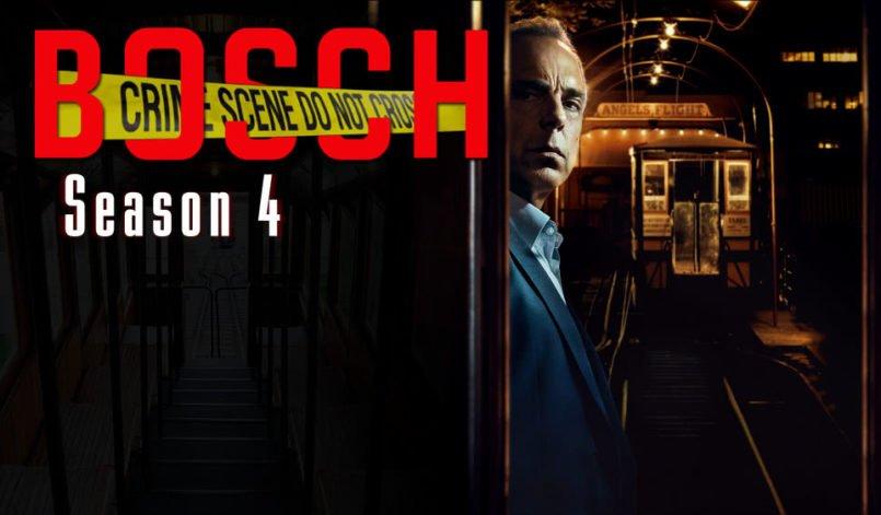 Titelbild für Kritik Bosch Staffel 4 mit Harry Bosch vor einer U-Bahn