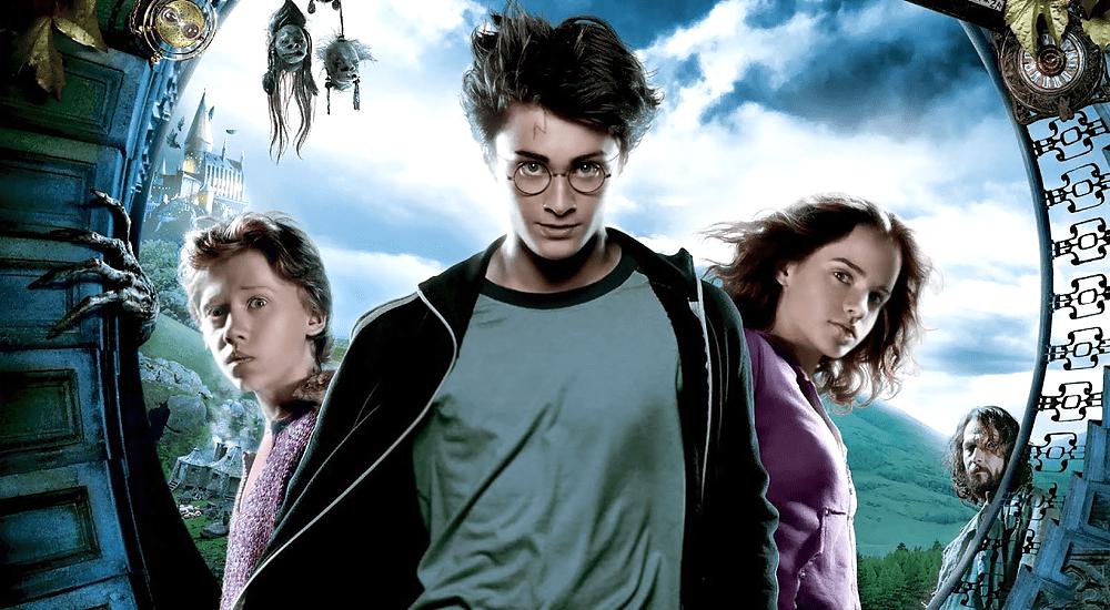 Harry, Ron und Hermine auf dem Poster zu Harry Potter 2 und der Gefangene von Azkaban