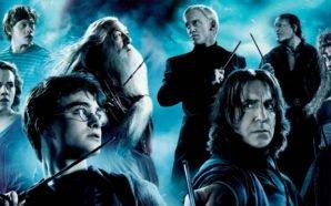 Dramatische Collage der Hauptfiguren aus Harry Potter und die Heiligtümer des Todes Teil 2