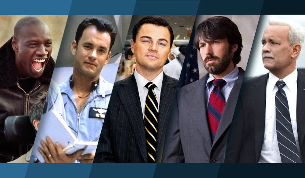 Titelbild für den Artikel Top 25 Filme nach wahren Begebenheiten mit Omar Sy, Tom Hanks, Leonardo DiCaprio und Ben Affleck