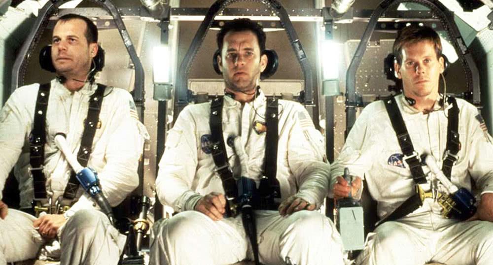 Bill Paxton, Tom Hanks und Kevin Bacon in einem Szenenbild aus Apollo 13