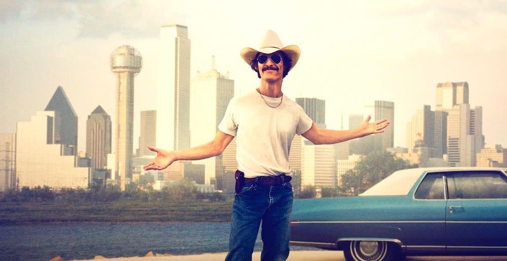 Matthew McConaughey auf dem offiziellen Poster für Dallas Buyers Club