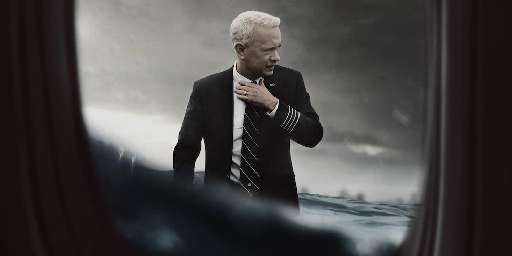 Tom Hanks auf einem offiziellen Poster für Sully