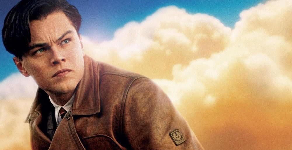 Leonardo DiCaprio auf einem offiziellen Poster für The Aviator