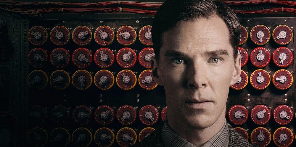 Benedict Cumberbatch auf einem offiziellen Poster für The Imitation Game
