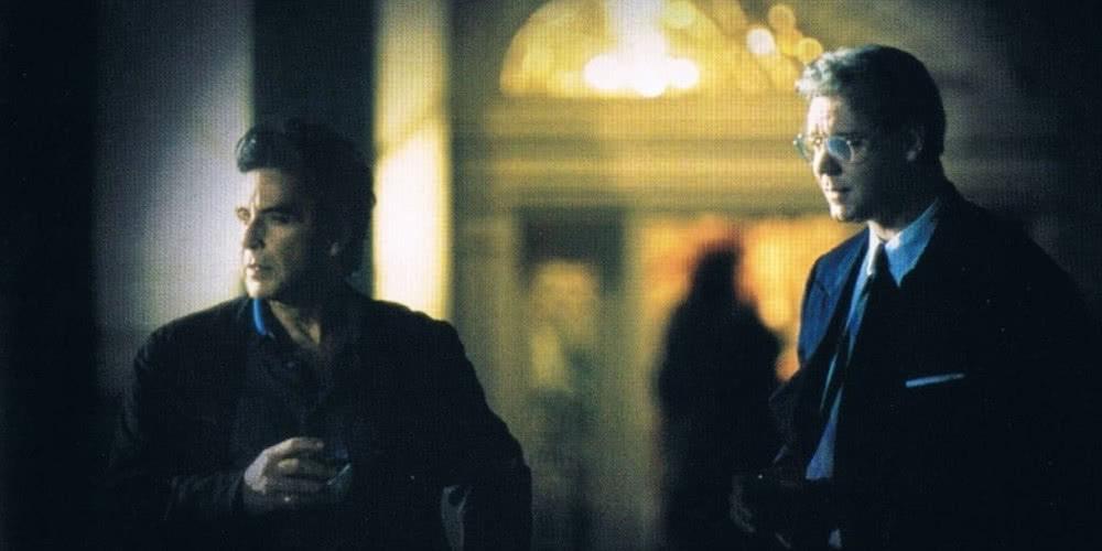 Al Pacino und Russell Crowe in einem Szenenbild aus Insider
