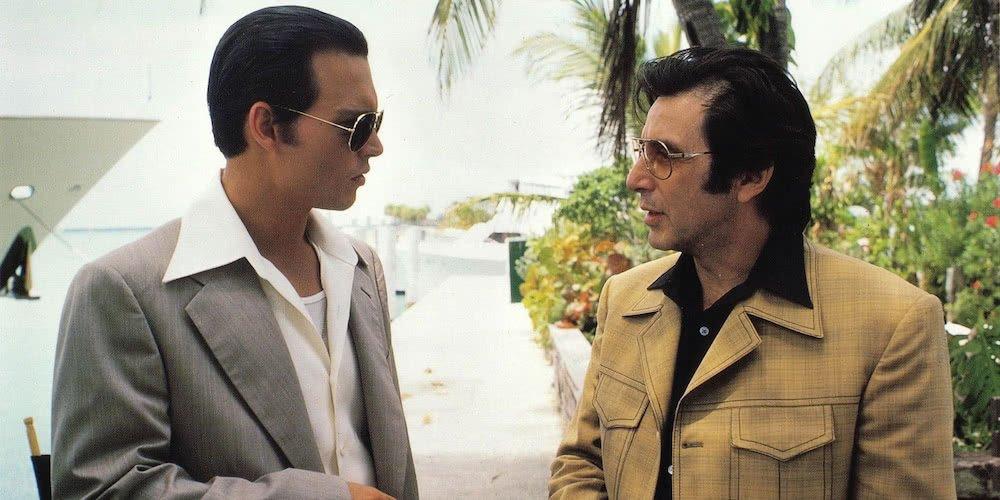 Johnny Depp und Al Pacino in einem Szenenbild von Donnie Brasco