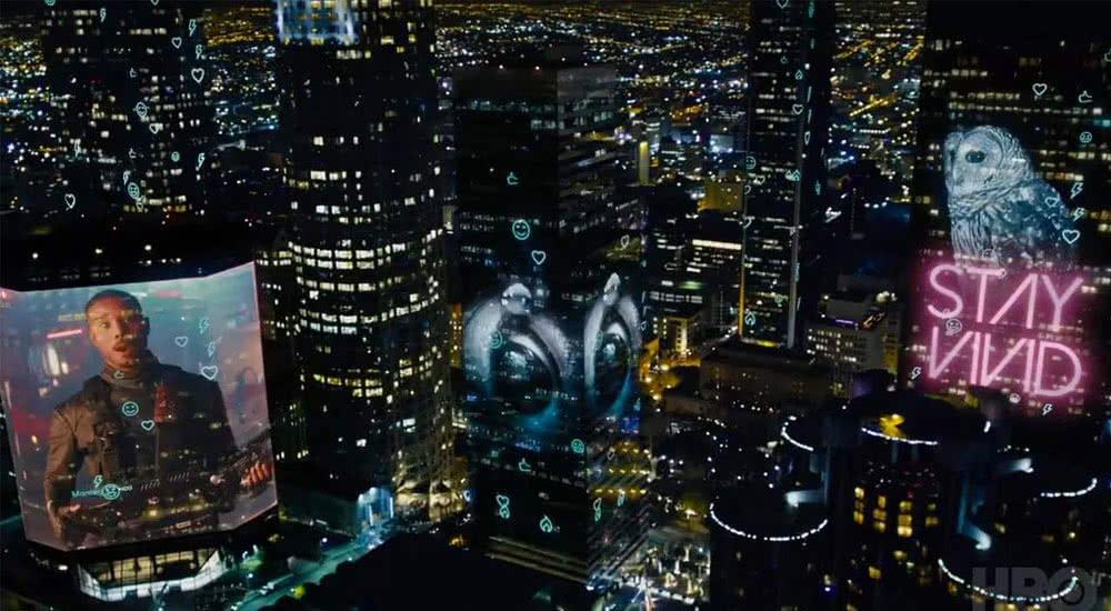 Futuristische Stadt in Fahrenheit 451