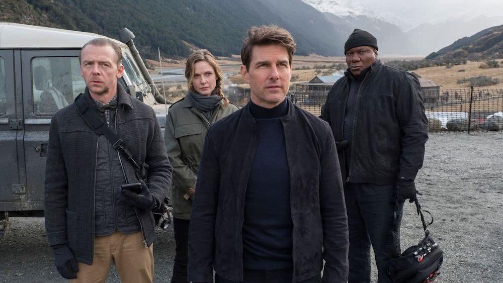 Tom Cruise, Simon Pegg, Rebecca Ferguson und Ving Rhames in einem Szenenbild für Kritik Mission Impossible Fallout