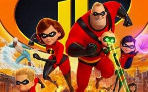 Die Familie der Unglaublichen stürmt auf die Kamera zu auf einem Poster zu Unglaublichen 2
