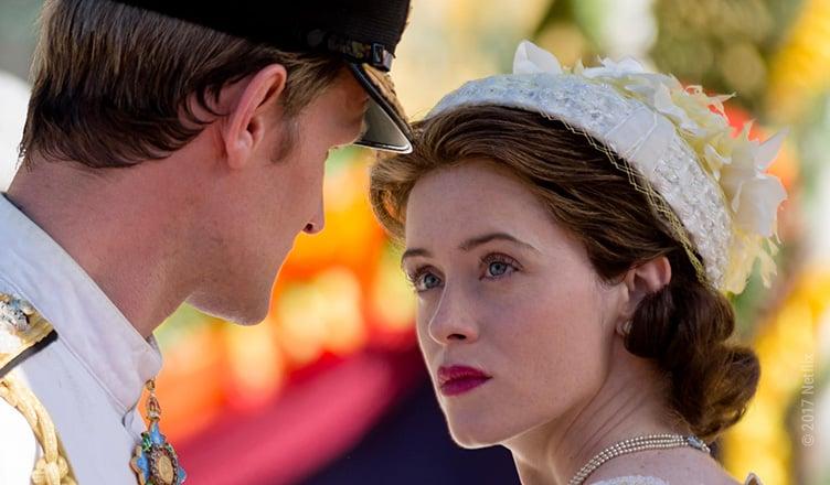 Queen Elizabeth II (Clair Foy) und Prince Philip (Matt Smith) stecken tief in einer Ehekrise