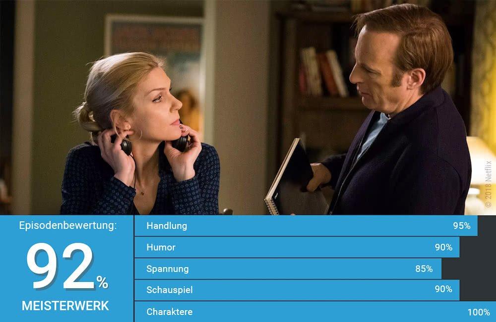 Bob Odenkirk und Rhea Seahorn in einer Szene in Better Call Saul Staffel 4 Episode 8 Coushatta