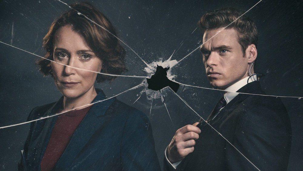 Titelbild für Kritik Bodyguard Staffel 1 mit Richard Madden und Keeley Hawes