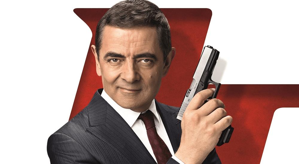 Rowan Atkinson als Johnny English auf dem Poster zu Johnny English Man Lebt nur Dreimal