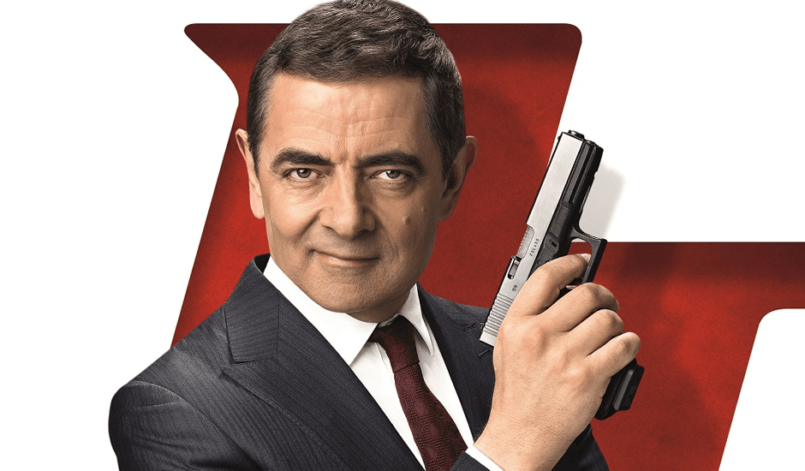 Rowan Atkinson als Johnny English auf dem Poster zu Johnny English Man Lebt nur Dreimal