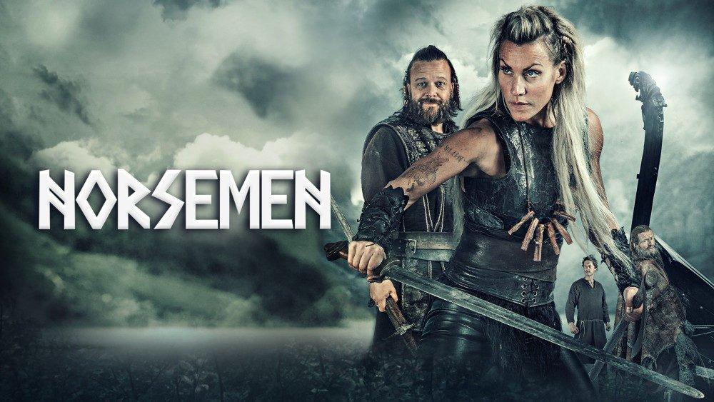 Titelbild für Kritik Norsemen Staffel 2 mit Frøya und Orm.