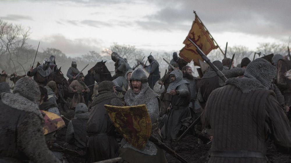 Eine Schlacht in einem Szenenbild für Kritik Outlaw King