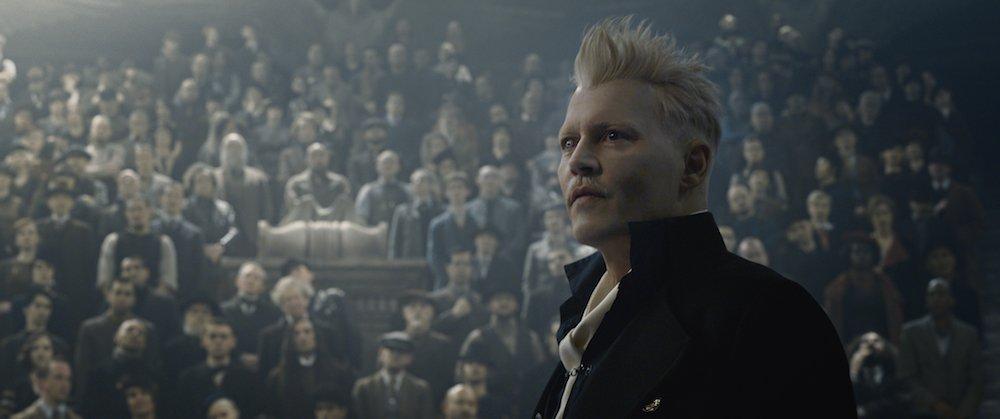 Johnny Depp als Gellert Grindelwald in einem Szenenbild für Kritik Phantastische Tierwesen Grindelwalds Verbrechen