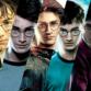 Collage der Plakate aller Harry Potter Filme mit Daniel Radcliffe als Harry Potter