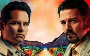Titelbild für Kritik Narcos Mexico Staffel 1 mit Michael Peña als Kiki Camarena und Diego Luna als Miguel Ángel Félix Gallardo