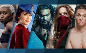 Collage der Poster der Filme Widows – Tödliche Wittwen, Mary Poppins' Rückkehr, Aquaman, Mortal Engines: Krieg der Städte und 100 Dinge