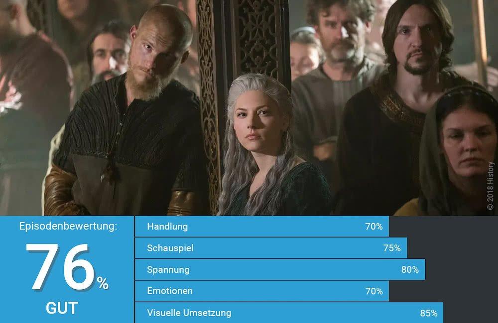 Lagertha und Ubbe auf einem Bild von Vikings Staffel 5 Folge 14 Alles ist dunkel