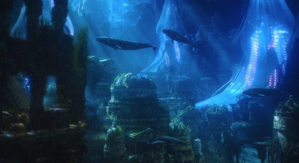 EIne belebte Unterwasserstadt.