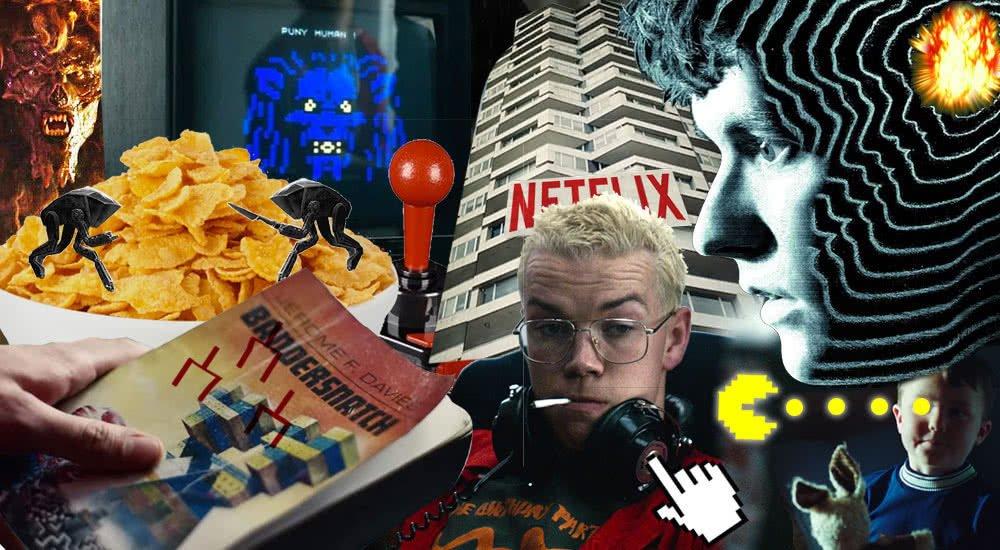 Collage von Szenenbildern aus Black Mirror Bandersnatch zum Podcast
