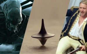 Collage Bilder von Aliens, Inception und Master and Commander