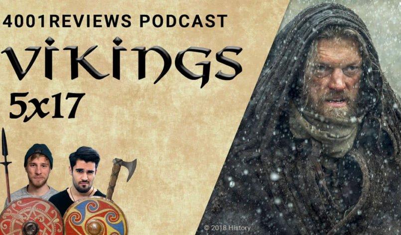 Ketill Flatnose gehüllt in einen Mantel im Schneetreiben von Island in Vikings Staffel 5
