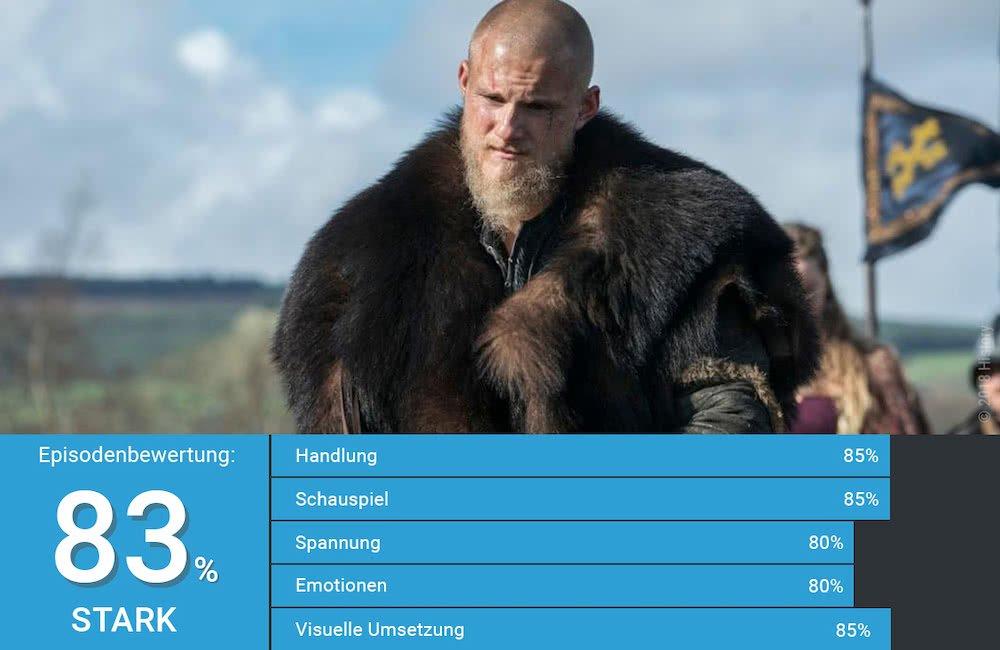 Björn in einem Szenenbild aus Vikings Staffel 5 Der Buddha mit 4001 Reviews Rating von 83%