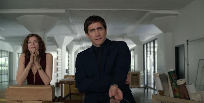 Jake Gyllenhaal und Rene Russo in einem Szenenbild für Kritik Die Kunst des toten Mannes