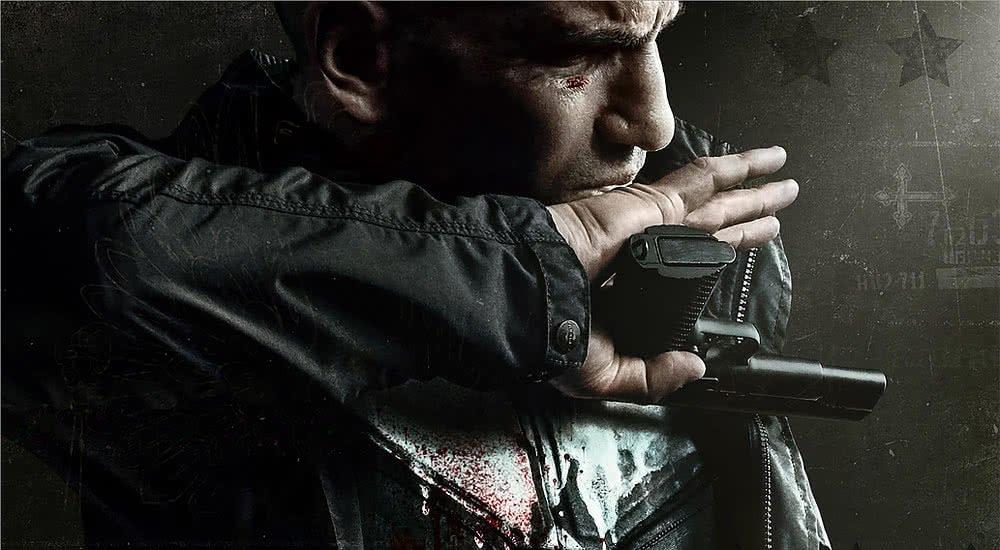 Jon Bernthal als The Punisher auf einem Plakat zu Staffel 2