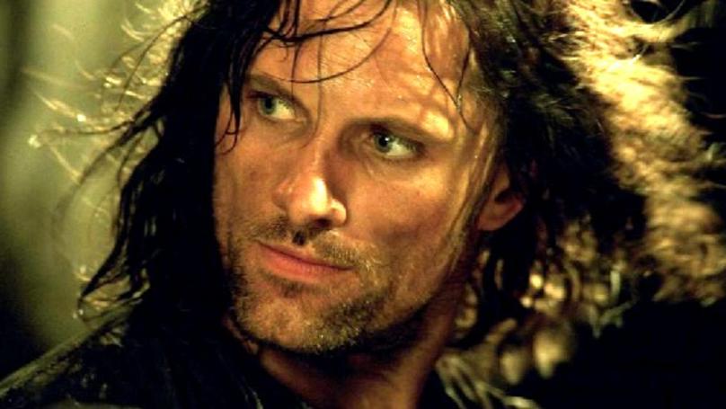 Viggo Mortensen als Aragorn in einem Szenenbild aus Der Herr der Ringe