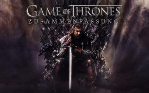 Eddard Stark sitzt auf dem Eisernen Thron auf dem Poster zur HBO Serie Game of Thrones Alle Staffeln