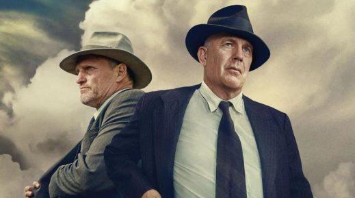 Poster für Kritik The Highwaymen mit Woody Harrelson und Kevin Costner als Texas Ranger