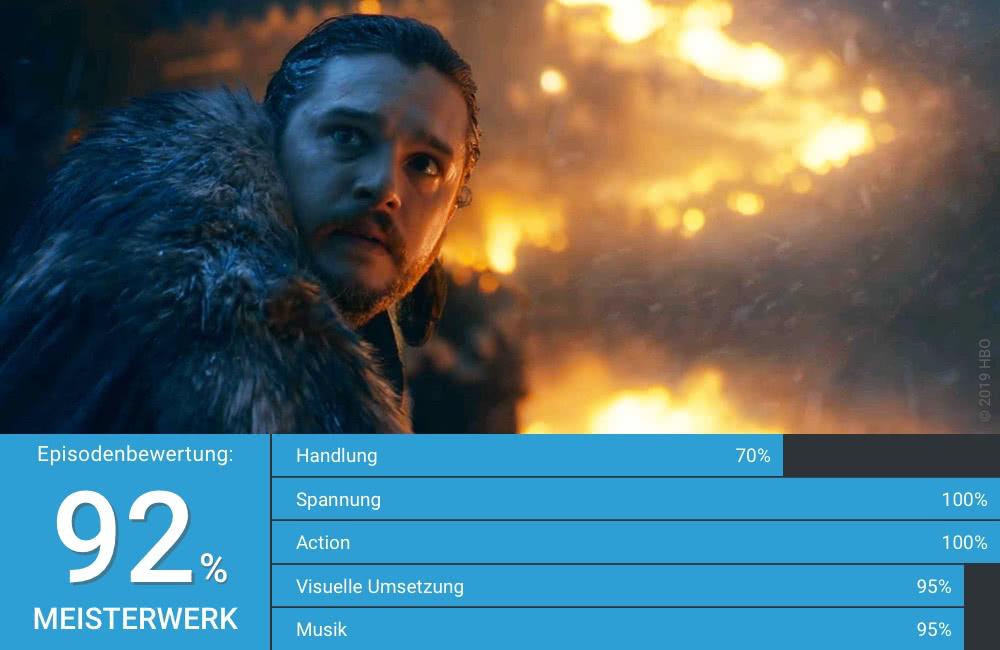 Jon Schnee gespielt von Kit Harrington auf Drache in Game of Thrones Staffel 8 Folge 3 Schlacht um Winterfell