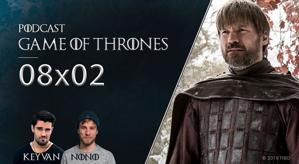 Jamie Lennister steht im Götterhain in Winterfell in Game of Thrones Staffel 8