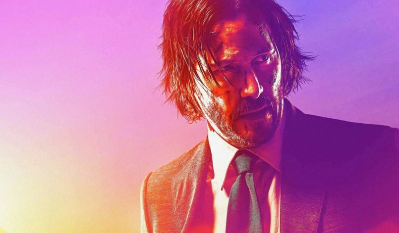 Keanu Reeves als John Wick in einem Poster für John Wick: Kapitel 3