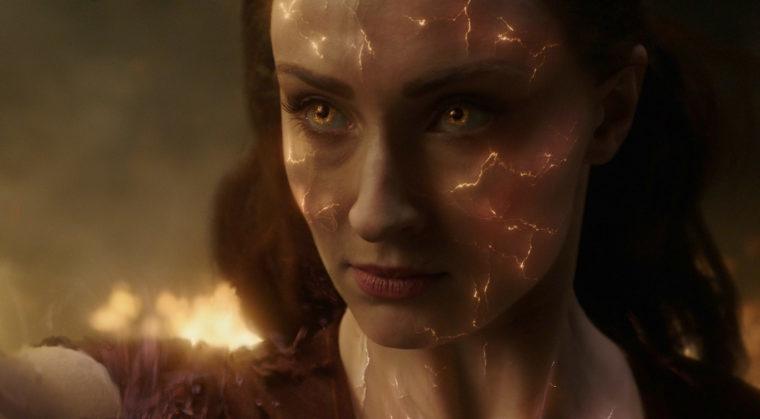 Jean Greys (Sophie Turner) Gesicht zerbröckelt